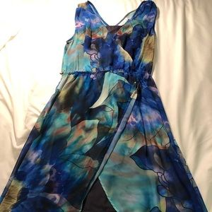 Watercolor High/Low Dress